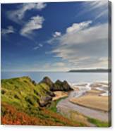 Three Cliffs Bay 4 Canvas Print