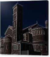Three Crosses In The Moon Light Canvas Print