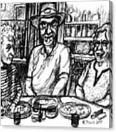 Three Diners Canvas Print