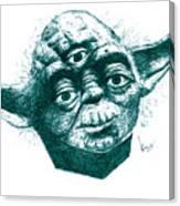 Three Eyed Yoda Canvas Print