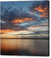 Three Fiery Clouds Canvas Print