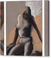 Three Figures - Triptych Canvas Print