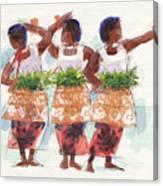 Three Fijian Dancers Canvas Print