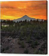 Mount Jefferson At Sunset Canvas Print