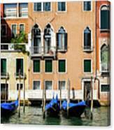 Three Gondolas Canvas Print