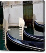 Three Gondolas Canvas Print