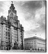 The Three Graces, Liverpool Canvas Print