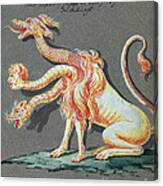 Three Headed Monster, 18th Century Canvas Print