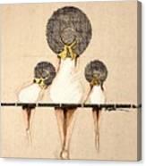 Three Ladies On A Dock  Canvas Print