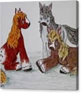 Three Little Ponies Canvas Print