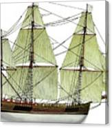 Three Masts Commercial 1760 Canvas Print