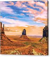 Three Mesas Canvas Print