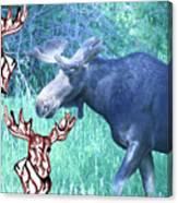 Three Moose Canvas Print