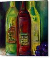 Three More Bottles Of Wine Canvas Print