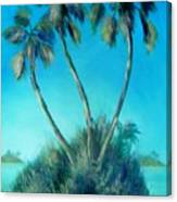 Three Palm Island Canvas Print
