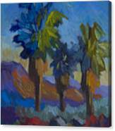 Three Palms At Palm Desert Canvas Print