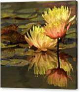 Three Perfect Lilies Canvas Print