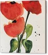 Three Poppies Canvas Print