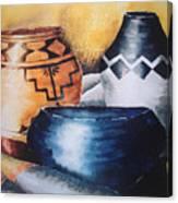 Three Pots Canvas Print