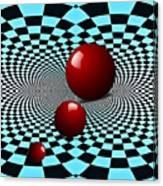 Three Red Balls Canvas Print