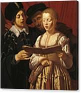 Three Singers Canvas Print