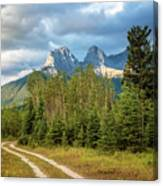 Three Sisters And A Dirt Road Canvas Print