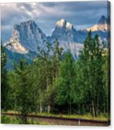Three Sisters And The Railroad Canvas Print