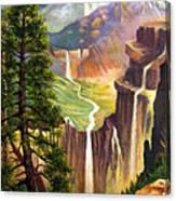 Three Sisters Falls Canvas Print
