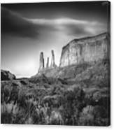 Three Sisters Formation At Monument Valley Canvas Print