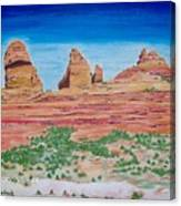 Three Sisters Sedona  Canvas Print