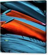 Three Sport Car Hoods Abstract Canvas Print