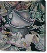 Three Tea Cups Canvas Print