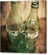 Three Vintage Coca Cola Bottles  Canvas Print