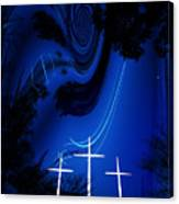 Three White Crosses Canvas Print