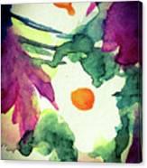 Three White Flowers Canvas Print