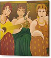 Three Women 2005 Canvas Print