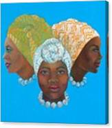 Three Women Canvas Print