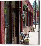Thrift Shop And Sign In Manitou Springs Canvas Print