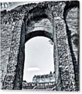 Through The Arch In A Sicily Ruin Canvas Print