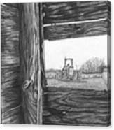 Through The Barn Canvas Print