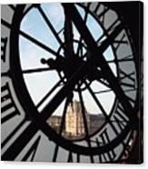 Through The Clock Canvas Print