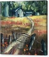 Through The Closed Gate Canvas Print