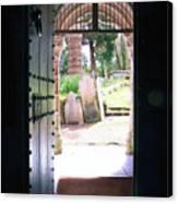 Through The Door Of St Mylor Canvas Print