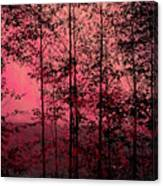 Through The Forest, Rose Canvas Print