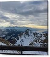 Through The Mountains  Canvas Print