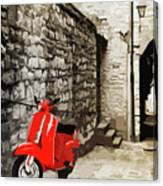 Through The Streets Of Italy - 01 Canvas Print