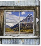 Through The Window Of The Past Canvas Print