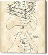 Thumb Wrestling Game Patent 1991 - Vintage Canvas Print