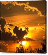 Thunder Mets Sunset Canvas Print