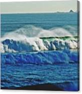 Thunder Of The Waves Canvas Print